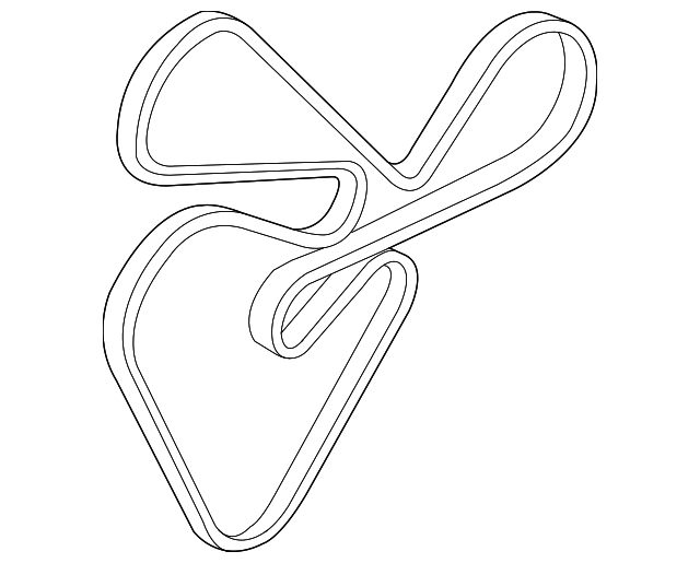 2011 2016 Kia Serpentine Belt 25212 2g760