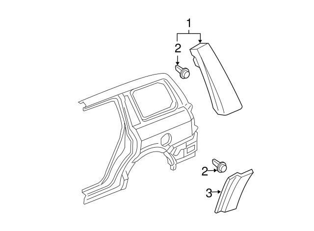 Honda Genuine 75324-S9V-A11ZF Fender Side Protector Assembly