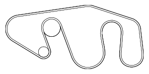 Serpentine Belt - Nissan (11720-1LA0B)