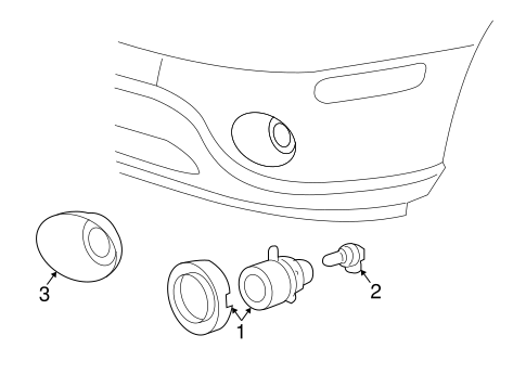 Fog Lamps For 2009 Saab 9 7x