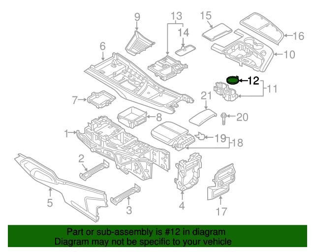 Cup Holder Insert Audi 4m0 862 435 4pk Benzel Busch