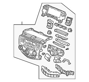 Panel Assembly, Climate Control - Honda (39179-SDA-L21)