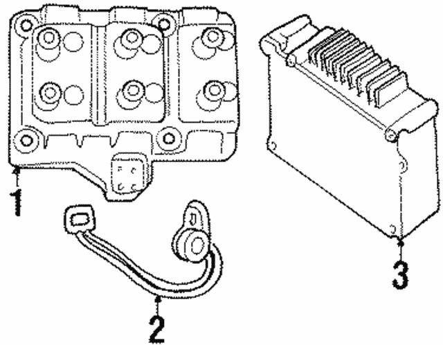 1998 2000 Mopar Crankshaft Position Sensor 4686352