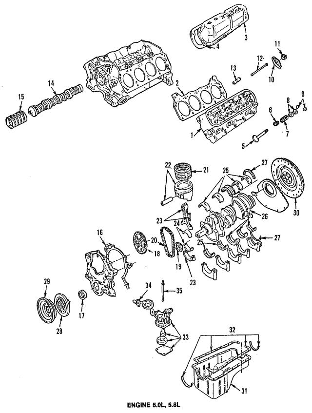 bronco engine diagram ford bronco engine push rod ford  e5az 6565 a  tascaparts com  ford bronco engine push rod ford