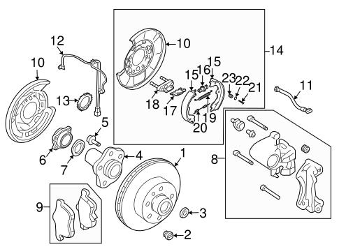 rear brakes for 2003 nissan 350z nissan parts. Black Bedroom Furniture Sets. Home Design Ideas