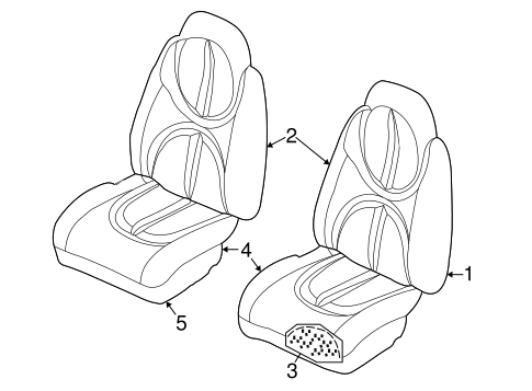 Front Seat Components For 2002 Dodge Durango