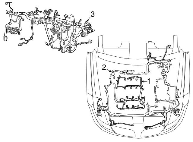 2016 Lincoln Mks Wire Harness Fa5z 14290 D