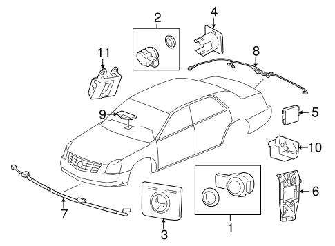Oem 2011 Cadillac Dts Parking Aid Parts