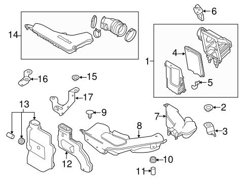 Nissan Filter Element Clip 165984cl0a