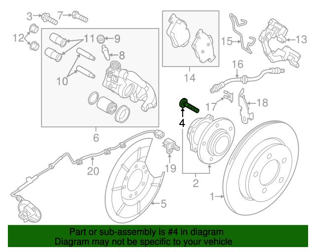 Mazda BP4K-33-062 Wheel Lug Stud