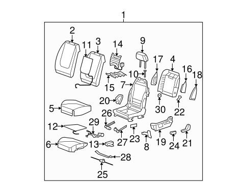 Saturn Aura Seat Diagram