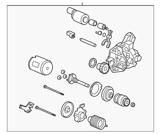 starter motor assembly  mhg024   mitsubishi