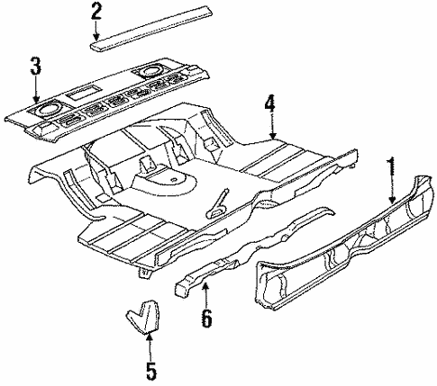 Rear Body Panel For 1986 Cadillac Deville