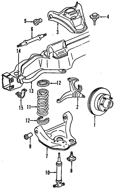 oem 1999 gmc jimmy suspension components parts