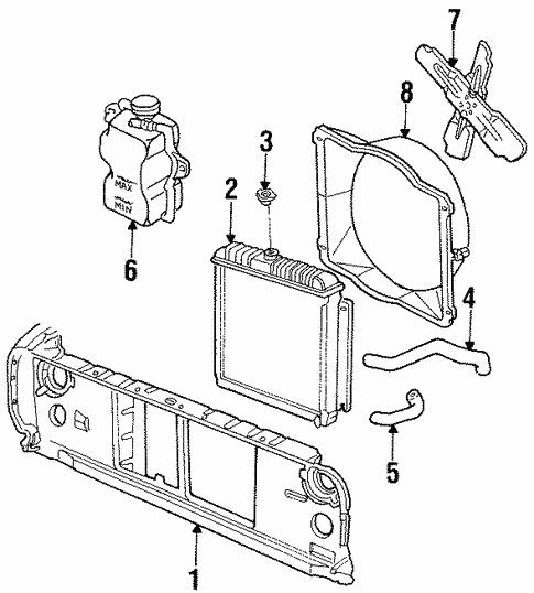 Radiator Support For 1986 Dodge D100