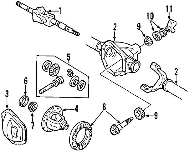 1997 2011 Ford Side Gear 5l3z 4215 A