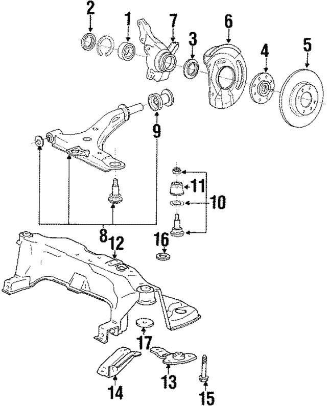 Lower Control Arm - Hyundai (54500-33020)