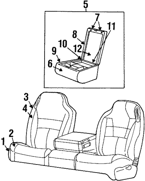 Front Seat Components For 1999 Dodge Ram 1500