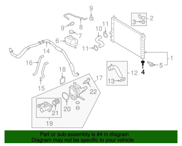 Radiator Assembly Lower Insulator - GM (96536643) | GMPartsDirect.com