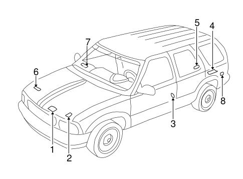 Labels For 2002 Chevrolet Blazer