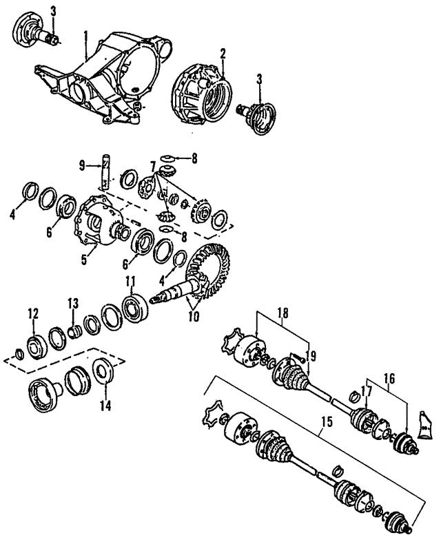 2000 2004 Audi Axle Assembly 4b3 501 203 Bx