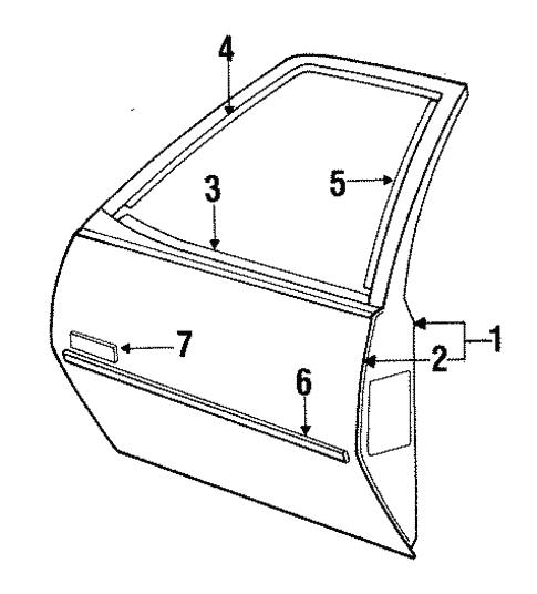 1991 pontiac 3 1 engine diagram door   components for 1991 pontiac sunbird  le  gmpartsnow  1991 pontiac sunbird