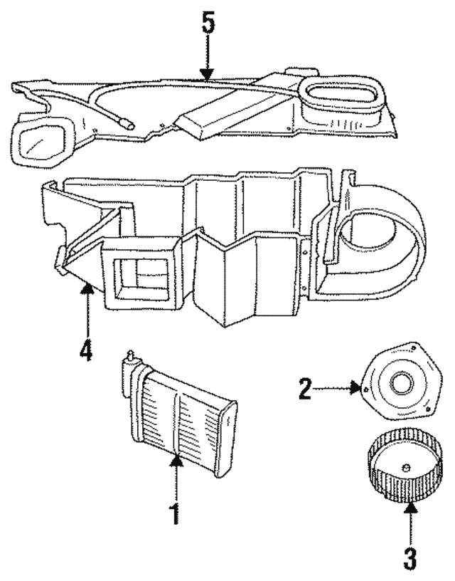 1993 1999 Mopar Heater Core 4644228