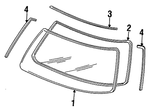 Molding Assembly, L Front Windshield Side