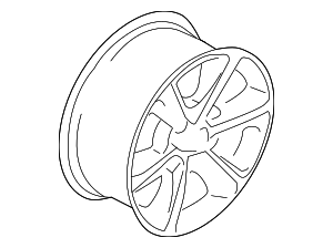 Wheel, Alloy - Ford (JL1Z-1007-F)