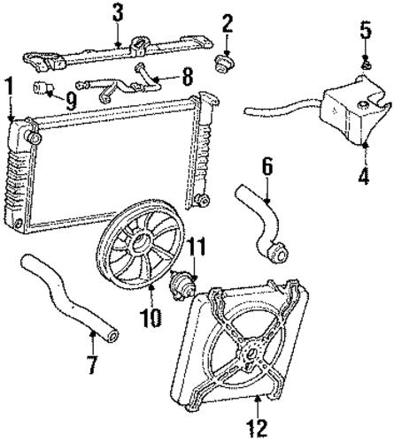 oem 1990 chevrolet lumina apv radiator  u0026 components parts