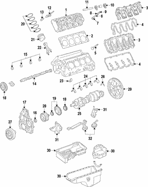 Valve Cover Gasket, Left, Right
