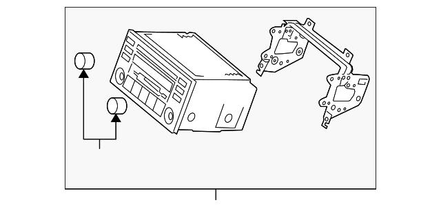radio - kia (r6100-1g489ph)