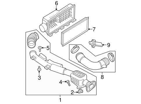 2001 Ford F150 5 4 Engine  partment Diagram besides Engine Oil Cooler Line To Radiator together with Air Intake Scat further Nissan Maxima 1992 Nissan Maxima Fuel moreover Saab 9 3 Thermostat Location Repair. on nissan engine air intake hose