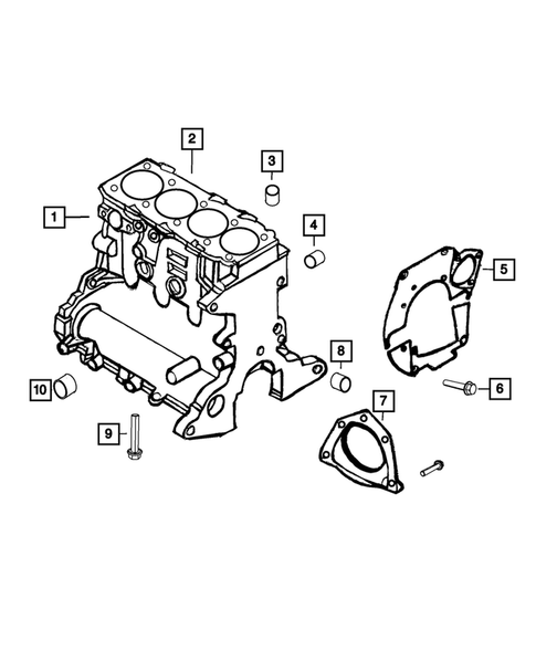 Cylinder Block for 2015 Jeep Renegade #0