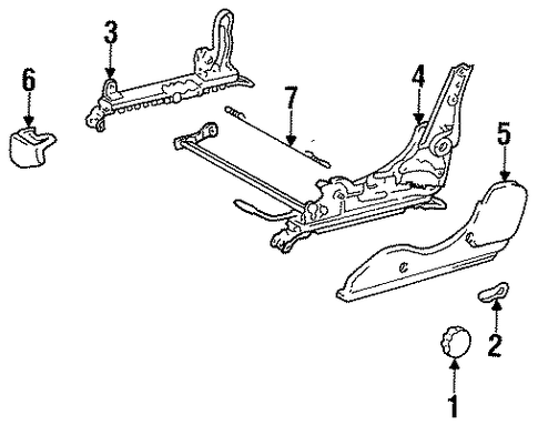 seat components for 1991 toyota mr2
