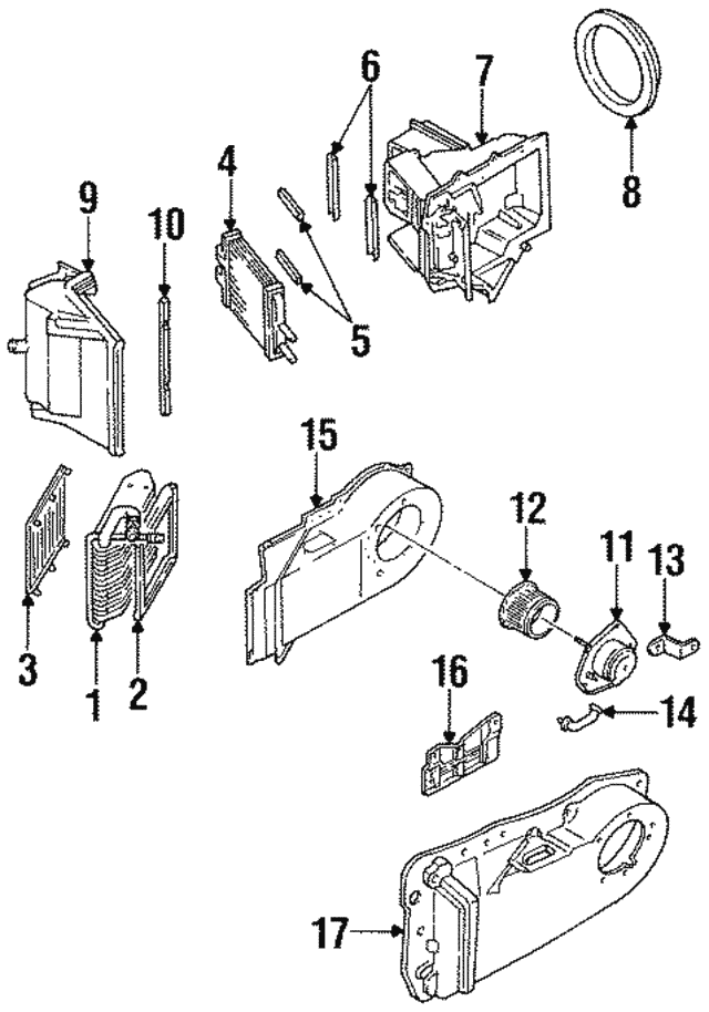 1986 2002 Gm Heater Core 22784517