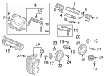 Bracket, L Radio - Honda (39161-THR-A00)