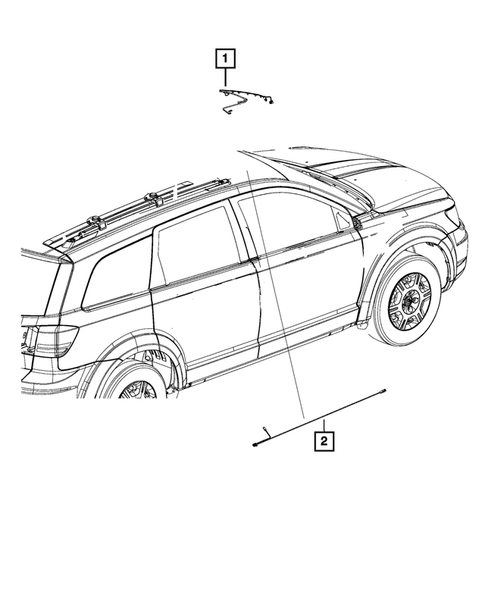 Wiring-Body and Accessories for 2016 Dodge Journey #1
