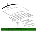 Roof Molding - Toyota (75552-52190)