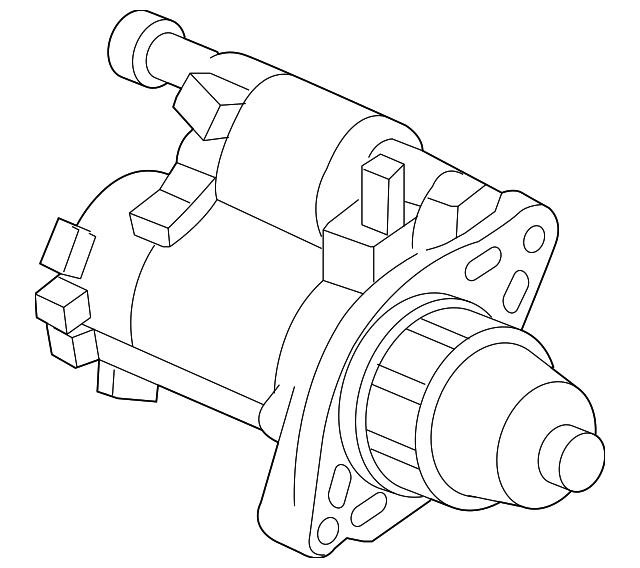 Mitsubishi Starter Motor Diagram