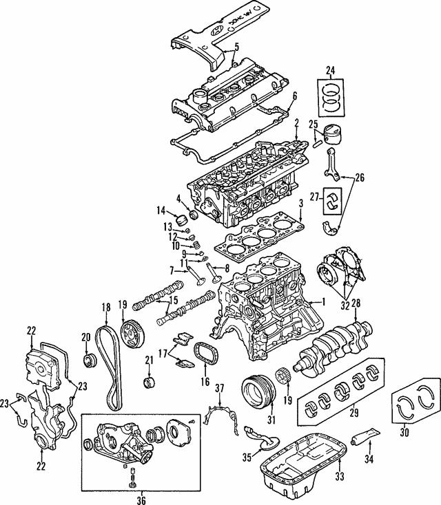 2005-2008 Hyundai Tucson Bearings 21020-23921 | Delray Hyundai PartsHyundai OEM Parts