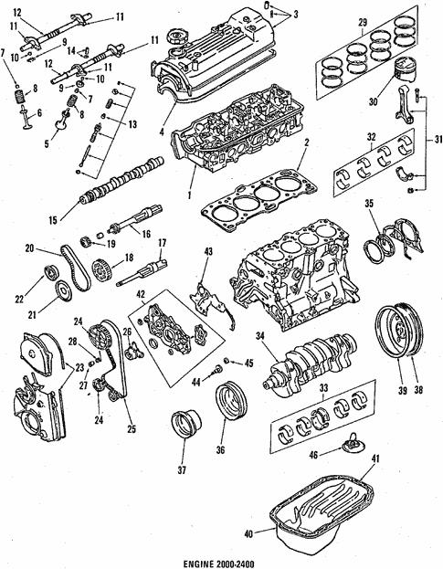 Engine Parts For 1994 Mitsubishi Mighty Max
