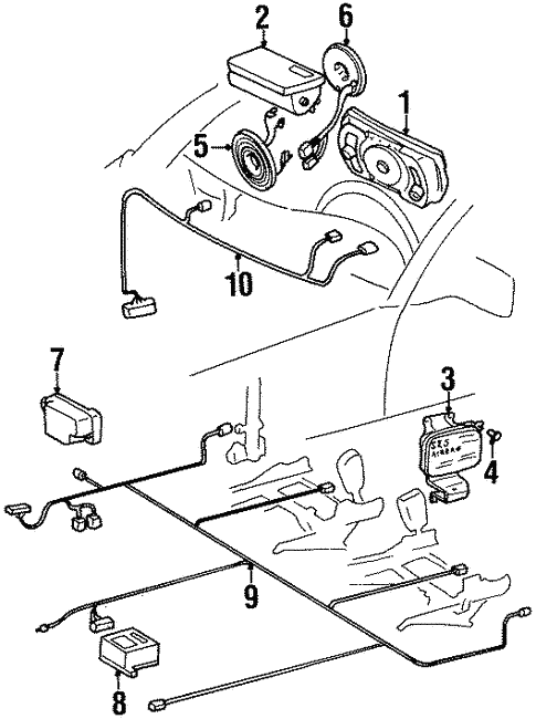 Air Bag Components for 1998 Mercedes-Benz S 500 #0