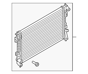 Radiator - Ford (DB5Z-8005-B)