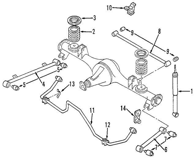 Spring  Coil, Rear Suspension