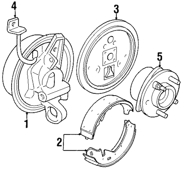 Brake Shoes - GM (19152644)
