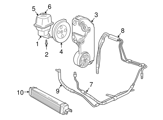 30 2004 Trailblazer Power Steering Lines Diagram