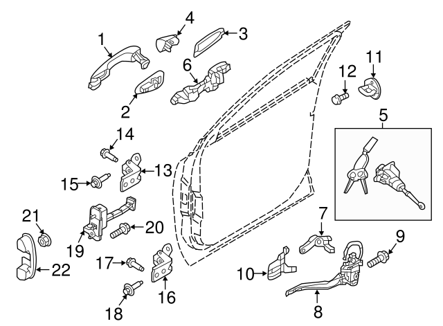 OEM NEW 2015-19 Kia Sorento Cover-Front Door Outside Handle Right Sd 82662-C5030