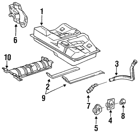 FUEL SYSTEM/FUEL SYSTEM COMPONENTS for 1996 Toyota Camry #1