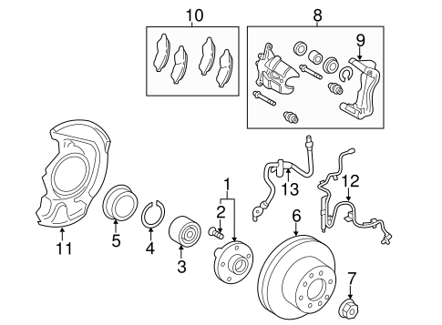 BRAKES/BRAKE COMPONENTS for 2009 Toyota Avalon #1
